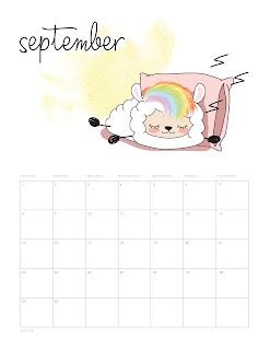 Llama Kawaii: Calendario 2019 para Imprimir Gratis.