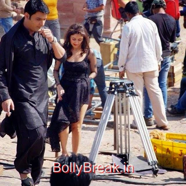 , Kapil Sharma Manjari Phadnis Shooting Pics from Kis Kisko Pyar Karoon Movie