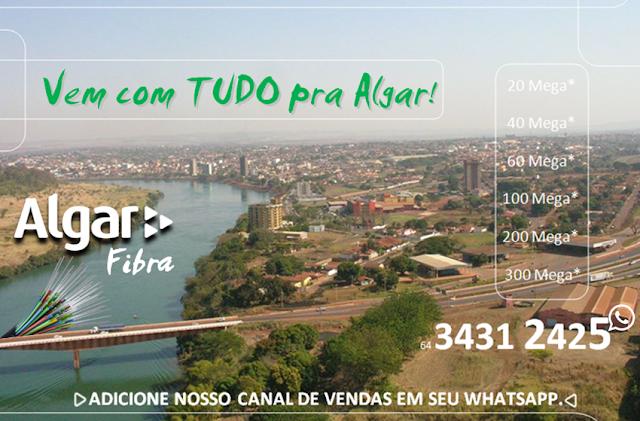 Algar Test, Algar Via Fibra ótica Itumbiara, planos de Internet fixa Itumbiara.