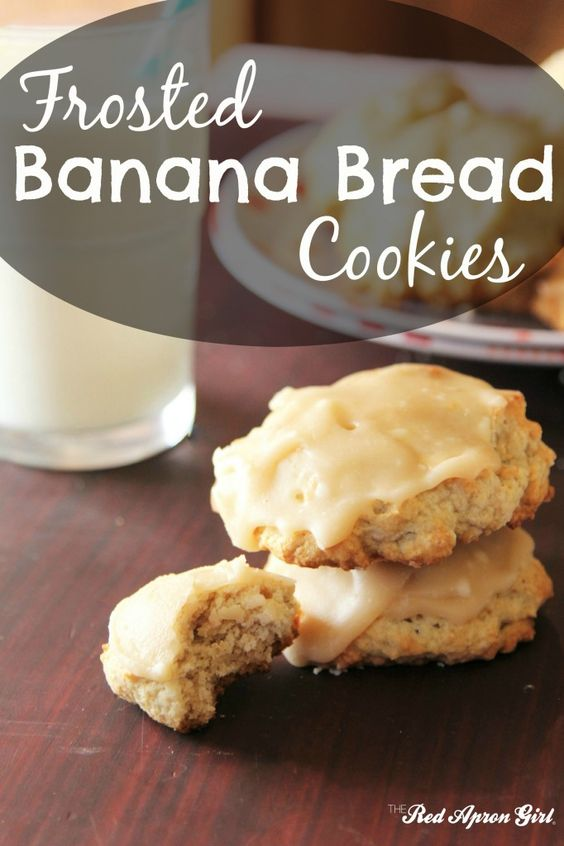 Frosted Banana Bread Cookies