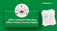 UKPSC Assistant Prosecuting Officer Prelims Previous Papers