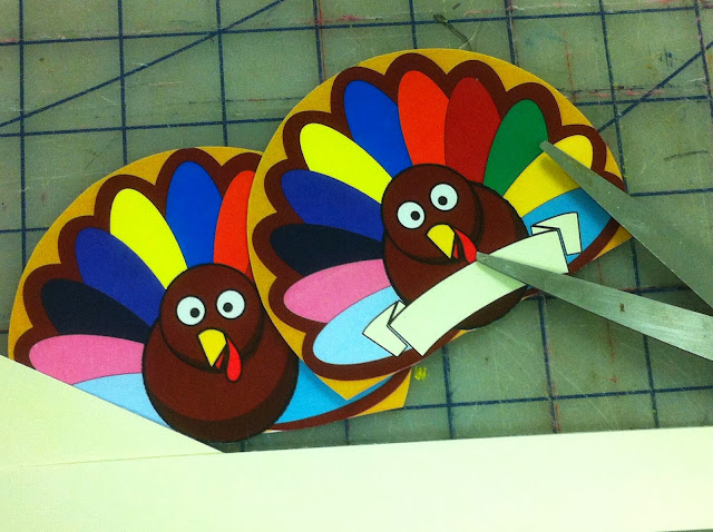Printable Thanksgiving Turkey Napkin Holders