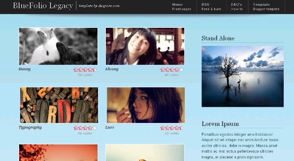 best portfolio blogger templates