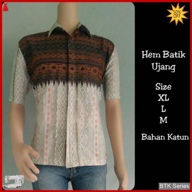 BTK114 Baju Hem Batik Ujang Modis Murah BMGShop
