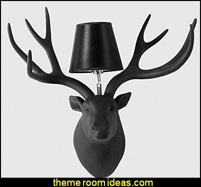 Creative Deer Head Wall Lamp Bedroom Antlers Lamps Aisle Bedside Simple Modern Resin Deer Head Living Room Wall Lamp