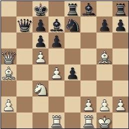 Partida de ajedrez Torán - Fuentes, posición después de 17.Da5