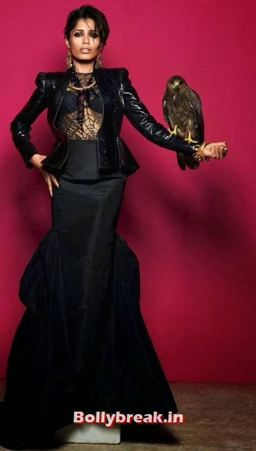 Freida Pinto Black Magic - Vogue India