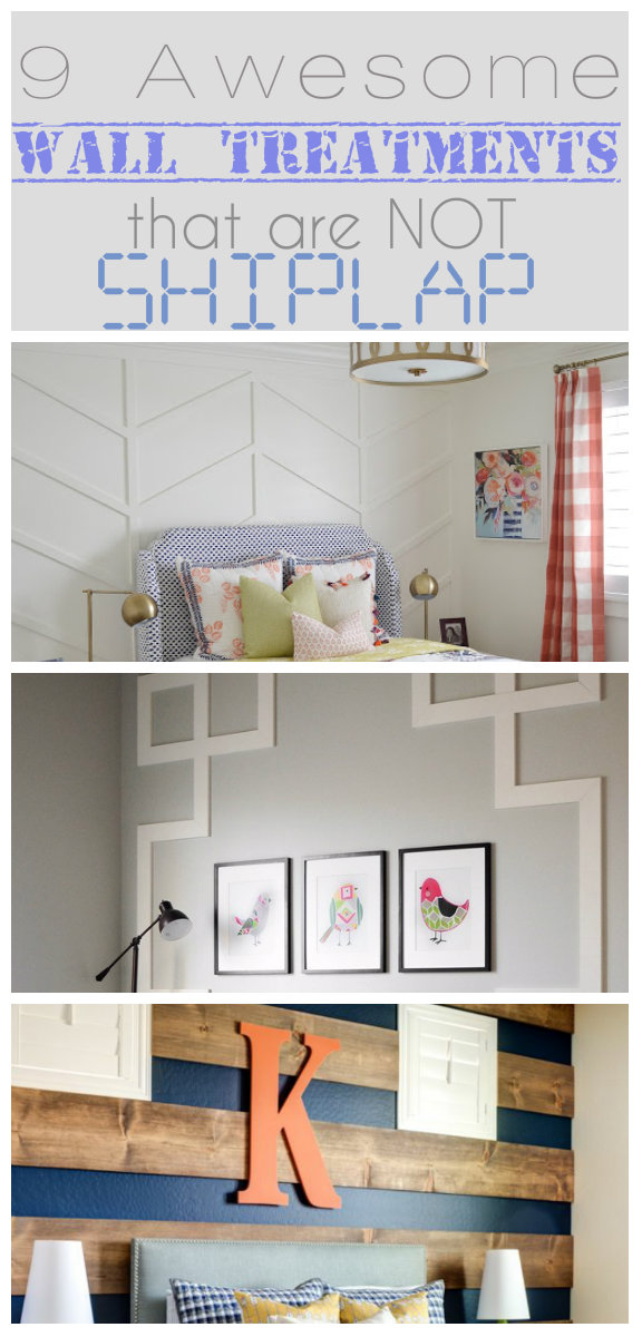 9 Awesome Wall Treatments I'm Crushing On that are NOT SHIPLAP
