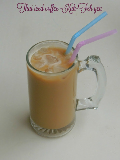 Thai Iced Coffee, Kah Feh yen - Thai Iced Coffee