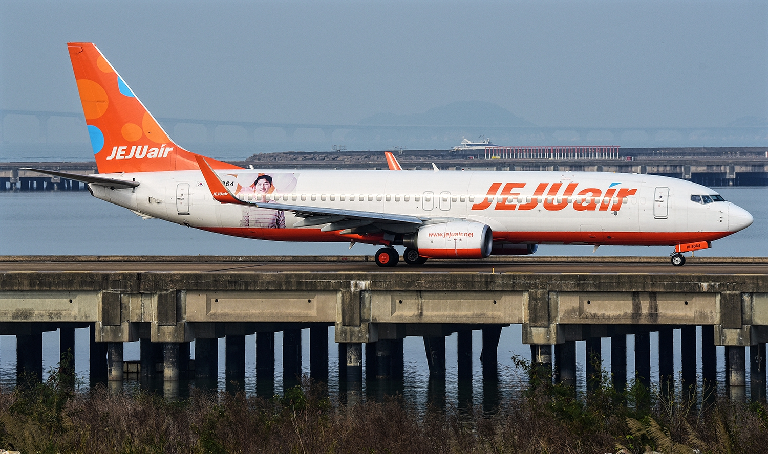 Boeing 737-800 of Jeju Air Orange-White Livery