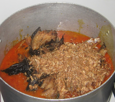 Cooking banga afang soup with step by step pictures 08