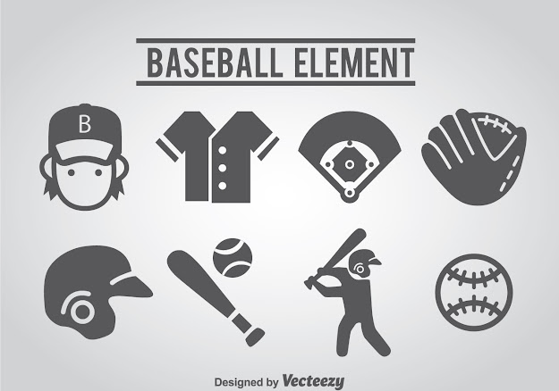 Vector Baseball Icons