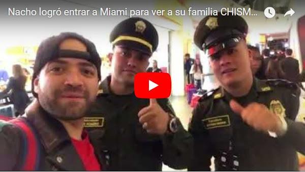 Nacho sorprendió a su familia en Miami