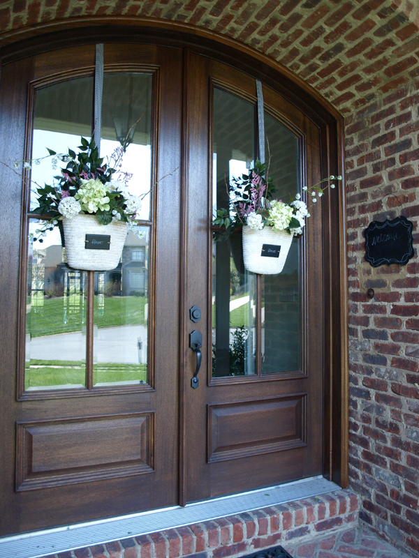 Easter Baskets For Sale: Front Door Flower Basket How-To