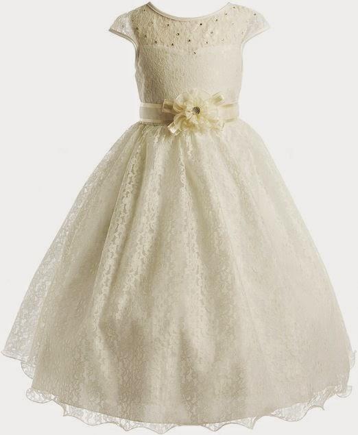ivory lace dress: ivory lace flower girl dress