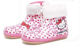 Sepatu Anak Perempuan Model Boots Hello Kity  BDA 760