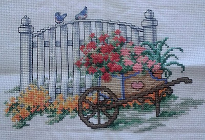 White Picket Fence Cross Stitch