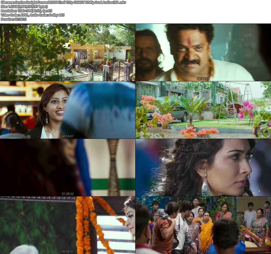 Santhu Straight Forward 2016 Hindi 720p UNCUT HDRip | 480p 400MB | 200MB HEVC Screenshot