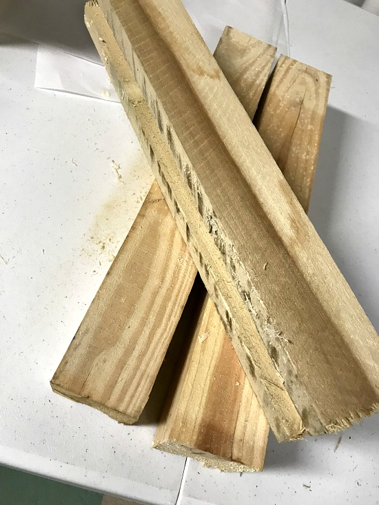 Pallet Wood for a Tea Light Candle Holder