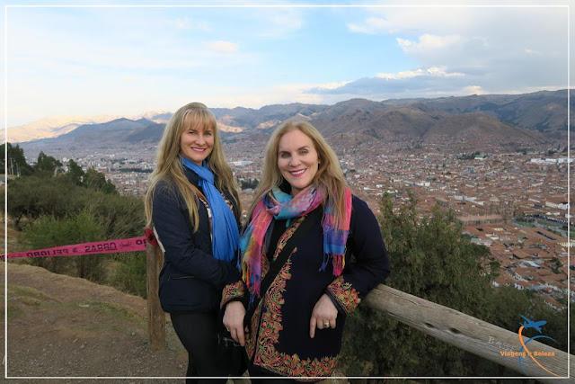 Cusco,  vista da cidade do Morro do Cristo Blanco