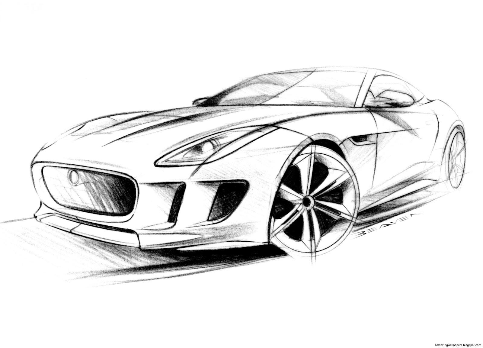 Cars Drawings In Pencil