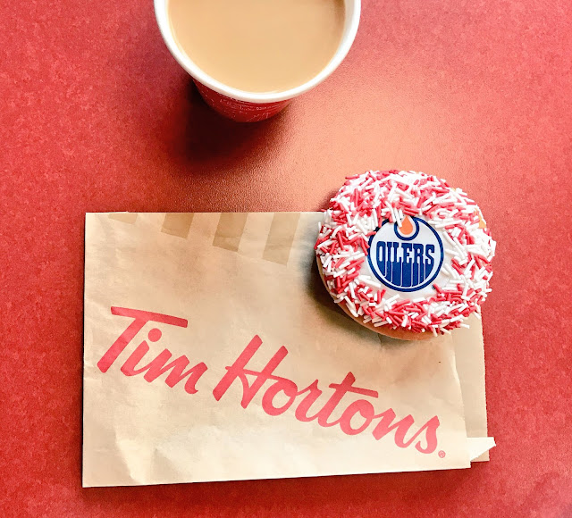 Tim Hortons Oilers Donut