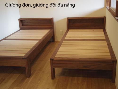 giường đơn, giường đa năng gỗ đẹp