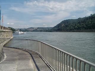 Deutsches Eck in Koblenz - Germany
