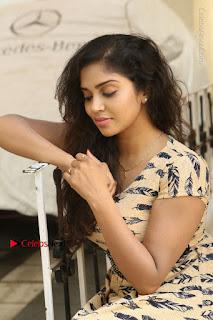 Telugu Actress Karunya Chowdary Stills in Short Dress at ATM Not Working Press Meet  0180.jpg