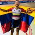 El ciclista venezolano Ángel Pulgar se bañó de oro