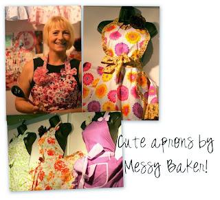 messy baker vintage aprons