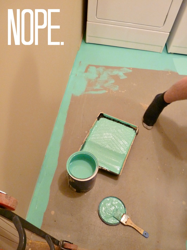 Can you paint a laundry room floor?
