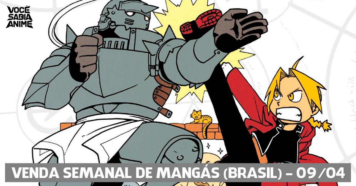 Ranking semanal de vendas de mangás no Brasil - 09-04-2018