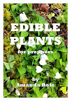 The front cover of Edible Plants for Preppers by Amanda rofe
