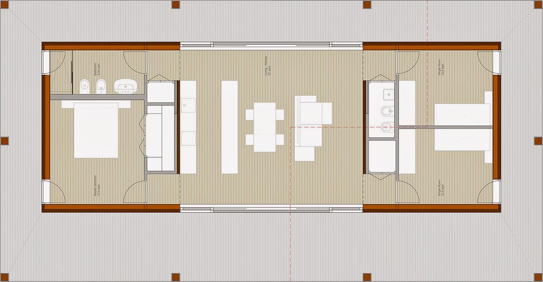Riccardo bandera architetto hwh case prefabbricate in legno for Mini case prefabbricate