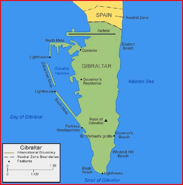 Gambar Peta Gibraltar