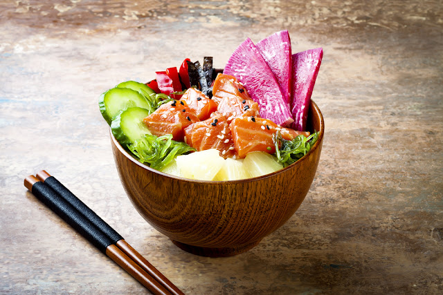 bowl of poke, one of Kauai's favorite foods