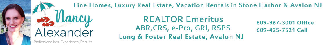 Stone Harbor, Avalon NJ Real Estate Sales and Vacation Rentals by Nancy Alexander, Long & Foster