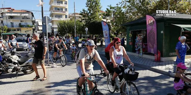 Με μεγάλη συμμετοχή η κυριακάτικη ποδηλατοβόλτα από το Άργος στο Κεφαλάρι με επιστροφή