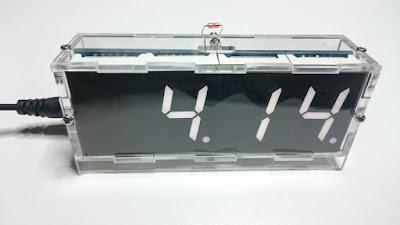 OH2DD DIY radioamatööri hamsack kello - päivämääränäyttö