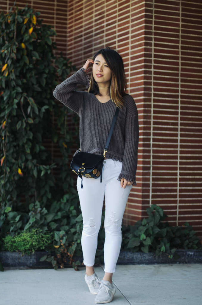san francisco style blogger wearing margaret o'leary fall sweater