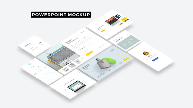 Free Web and App UI Screen Mockup PowerPoint Templates Slide 1