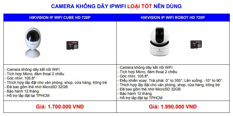 giá camera ip wifi hikvision giá rẻ