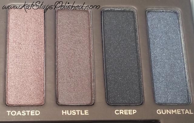 Urban Decay Naked Palette - Toasted | Hustle | Creep | Gunmetal