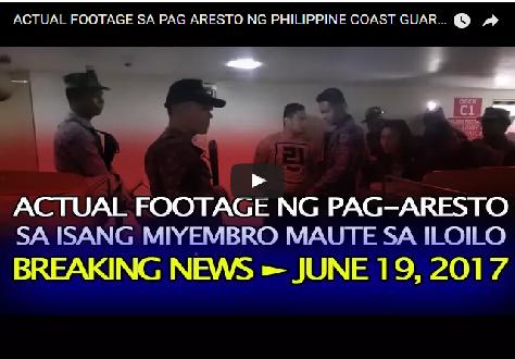 2thOXGs ACTUAL FOOTAGE SA PAG ARESTO NG PHILIPPINE COAST GUARD SA TATLONG MYEMBRO NG MAUTE SA ILOILO PORT!watch!
