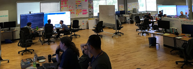 "As a method for communicating with executives, recently we have started to equate the Mobs within the team to ""work streams"". It works as a great metaphor to explain that we have 1 Kanban board per mob and each mob has 1 task WIP."