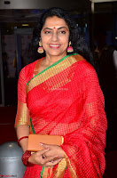 Suhasini in Designer dark Red Saree at 64th Jio Filmfare Awards South ~  Exclusive 007.JPG