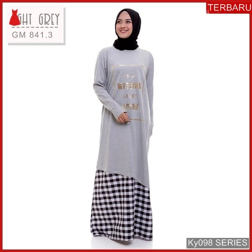 Ky098g83 Gamis Muslim Rdani Murah Dress Bmgshop Terbaru