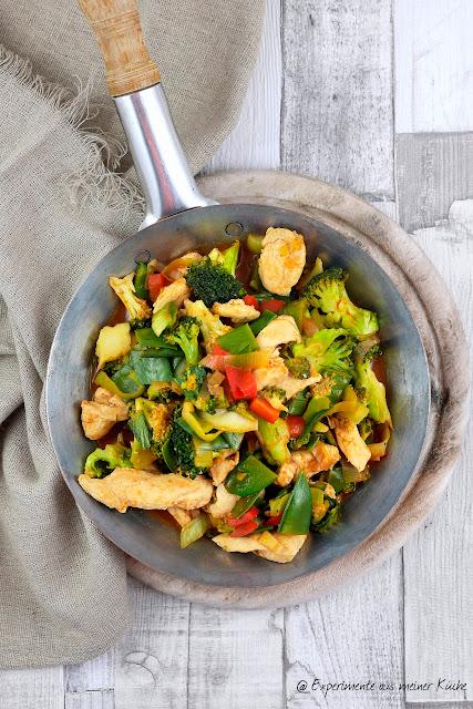 Gemüsepfanne mit Bulgur und Hähnchen | Essen | Kochen | Rezept