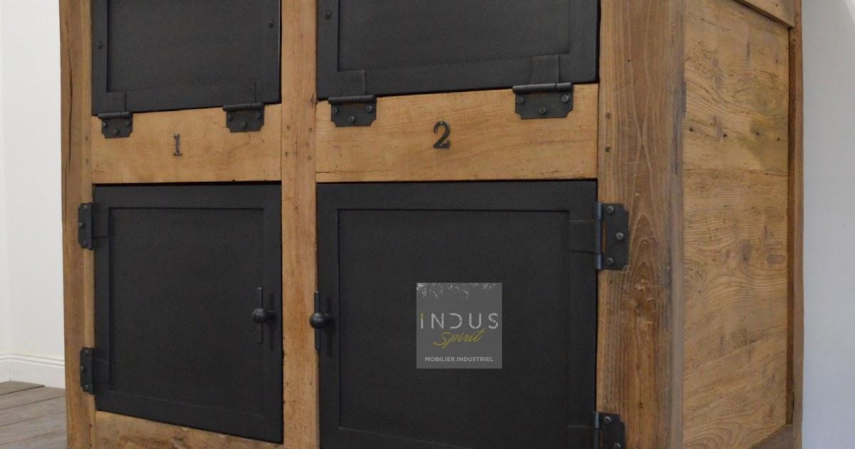 meuble bois et m tal. Black Bedroom Furniture Sets. Home Design Ideas